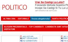 Realizare site politica - politico.ro