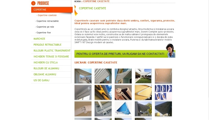 Creare site, umbrire si protectie - Tent Modern - layout site, produse.jpg