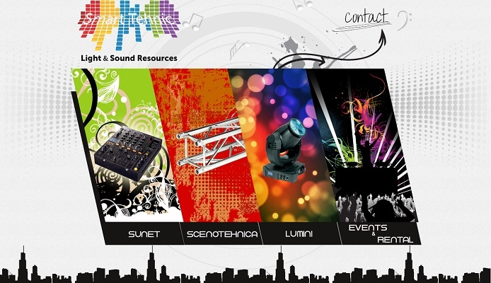 Site de prezentare, lumini, sunet - Smart Tehnic - layout site.jpg