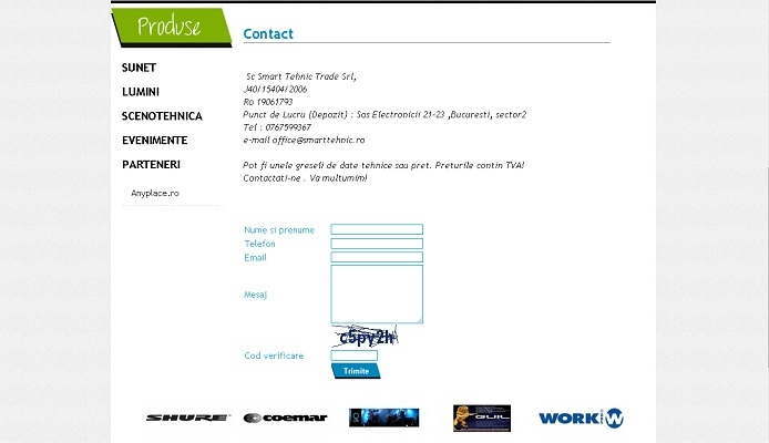 Site de prezentare, lumini, sunet - Smart Tehnic - layout, contact.jpg