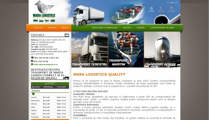 Website prezentare, transport terestru, aerian si naval - Mara Logistics - layout site.jpg