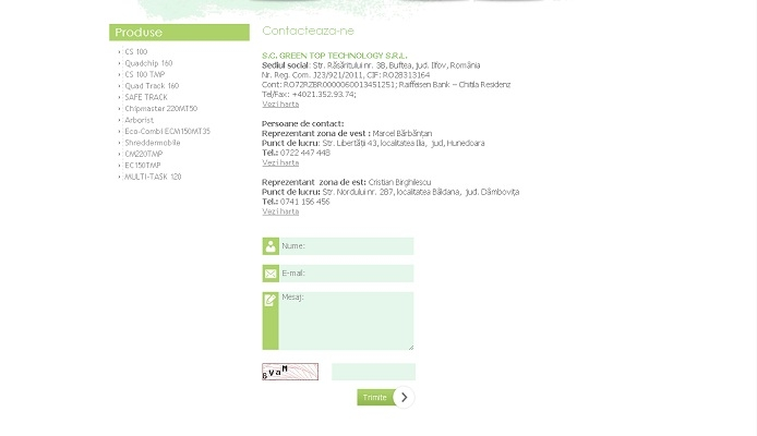 Dezvoltare site web, utilaje tocat crengi - Green Top Technology - layout site, contact.jpg