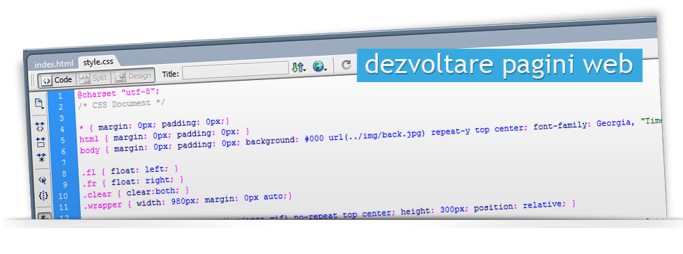 Dezvoltare pagini web