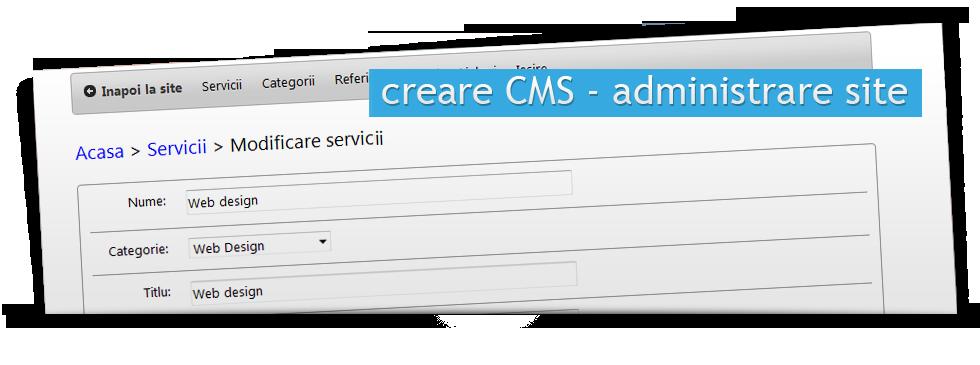 Creare CMS - administrare site